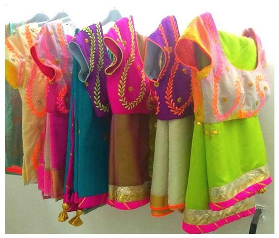 neon sarees