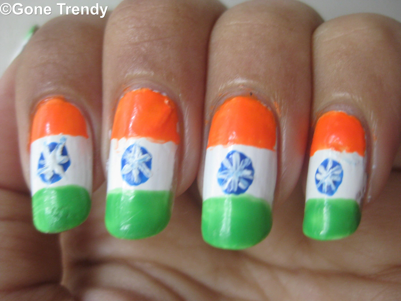 Indian-flag-nail-art